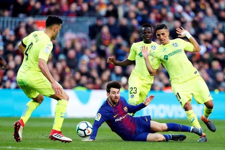 Bordalás se rindió a la calidad de Leo Messi. EFE