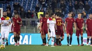 La Roma goleó al final. EFE