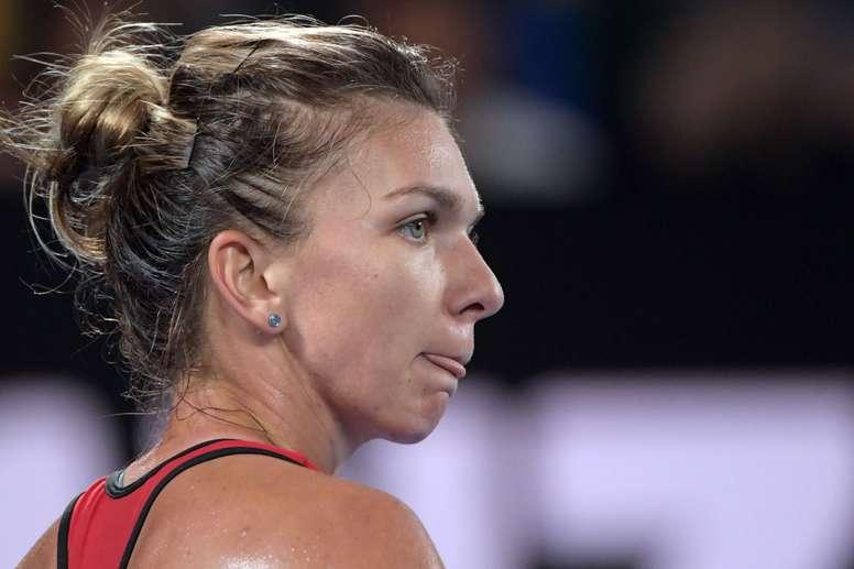 Simona Halep durante un torneo. EFE/Archivo