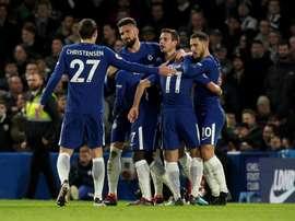 Hazard marcou dois gols. AFP