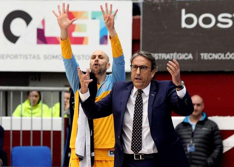 El entrenador del Herbalife Gran Canaria, Luis Casimiro. EFE/Archivo