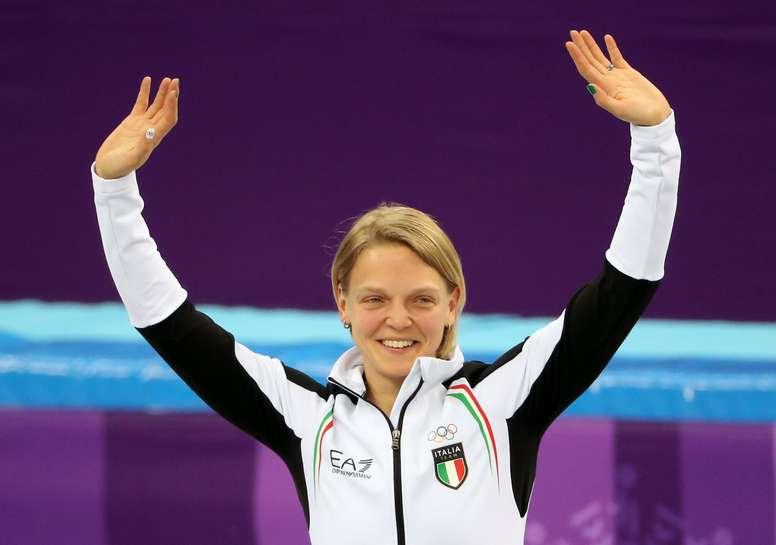 Arianna Fontana dio a Italia su primer medalla de oro en los Juegos Olímpicos de Invierno de PyeongChang (Corea del Sur) al ganar la prueba de 500 metros de patinaje de velocidad en pista corta. EFE
