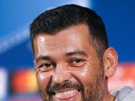 Conceição era um treinador feliz na conferência de imprensa. EFE