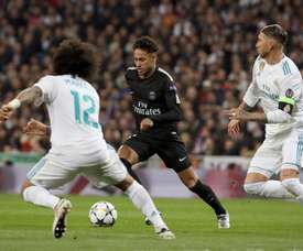 Neymar (C) was full of praise for Ramos (R) and Vinicius EFE