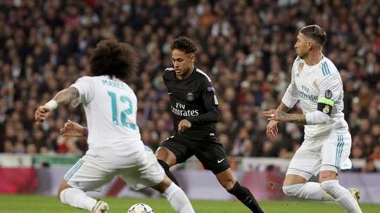 Neymar (C) was full of praise for Ramos (R) and Vinicius EFE