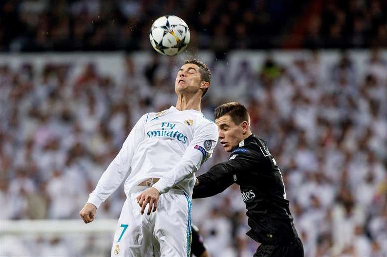 Pin Cristiano Ronaldo em grande na Champions. EFE f12fbd7f490bd
