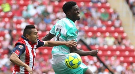 El delantero, una nueva opción para el Sevilla de Machín. EFE