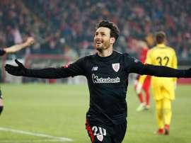 O jogador espanhol bisou na partida. EFE