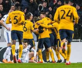 O Atlético bateu o Copenhaga por 1-4. EFE