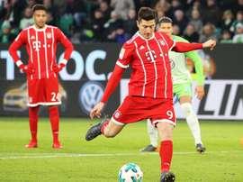O Bayern sofreu para vencer o Wolfsburg. AFP