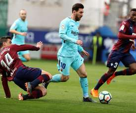 Ainda na última rodada Messi fez uma 'assistência de ouro'. EFE