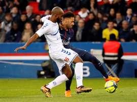 Neymar, objeto de las burlas de Bahoken. AFP