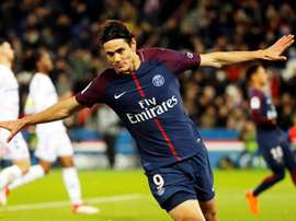 Cavani scored twice against Strasbourg. EFE
