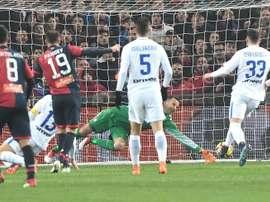 Pandev anotó el segundo gol ante el Inter. EFE