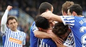 Canales bate o goleiro do Levante pela terceira vez. EFE