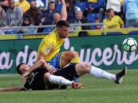 Las Palmas jugó un partidillo amistoso ante a UD Tamaraceite. EFE