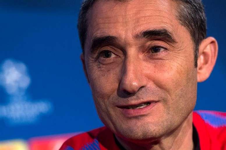 Valverde chamou 18 elementos para este importantíssimo duelo. EFE