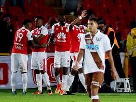 Santa Fe metió la cabeza en la fase de grupos de la Libertadores. EFE