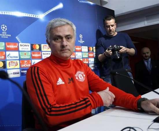 José Mourinho trabalhou no Manchester United entre 2016 e 2018. EFE