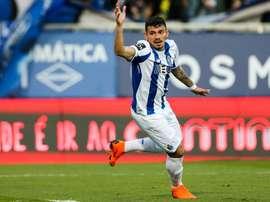 Tiquinho Soares comandó la remontada ante el Estoril. EFE