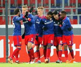 El CSKA Moscú empató a cero ante el Dinamo. EFE