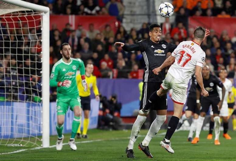 United kept Sevilla at bay in the first leg. EFE