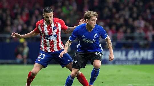 El Atlético logró el pase a octavos gracias a su buen encuentro de ida. EFE