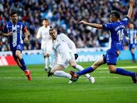 El Alavés se fue goleado del Bernabéu. EFE