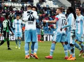 A Lazio foi golear ao terreno do Sassuolo. AFP