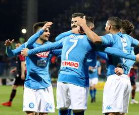 Hamsik edges closer to century in five-star display. EFE