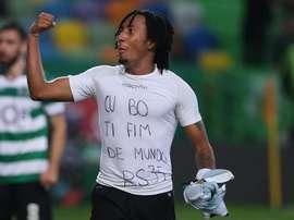Martins a fait parler de lui pour dédier un but à Semedo, et être puni d'un rouge pour ce geste. EFE