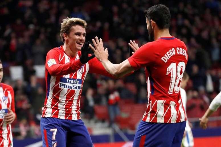 El Atlético y su dupla más temida quieren acabar con el Lokomotiv. EFE