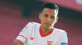 Arana debutó por fin con el Sevilla. EFE/Archivo