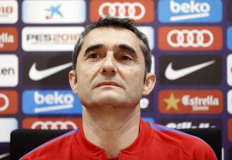 Valverde desvalorizou rumores. EFE