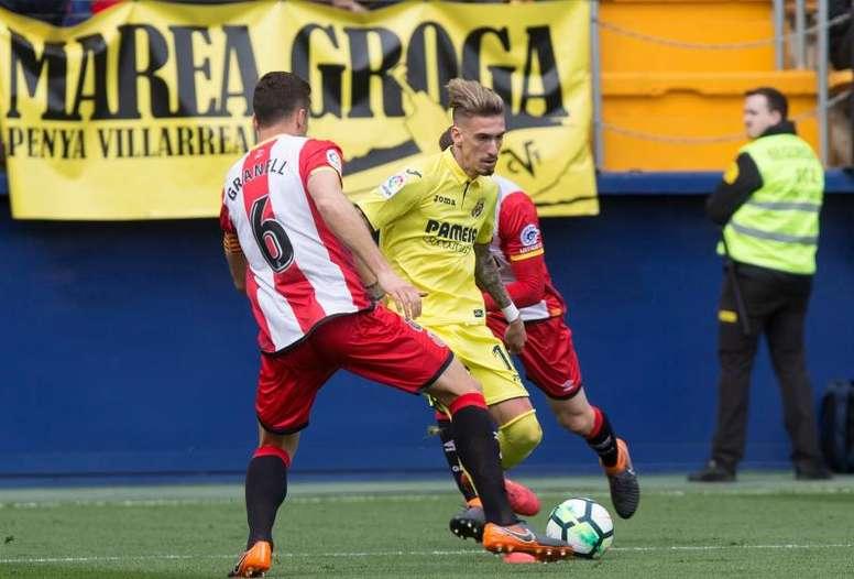 El centrocampista vio la tarjeta ante el Villarreal. EFE