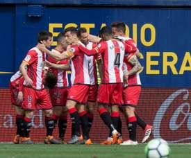 O Girona bateu o Villarreal por 0-2. EFE
