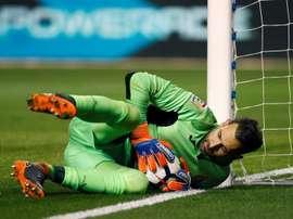 Diego López pourrait rester loin des terrains jusqu'à la fin de la saison. EFE