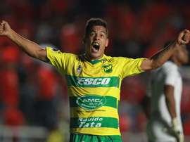 Nicolás Fernández, uno de los goleadores de la noche. EFE