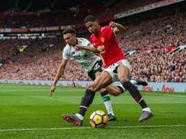 O Liverpool recebe o Manchester United neste domingo. EFE