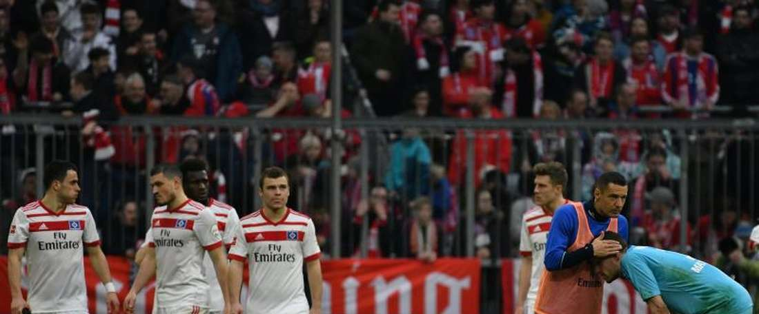 Hamburg's hopes of staying in the Bundesliga are dwindling. EFE