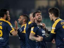 Pobres números goleadores del Hellas Verona. EFE
