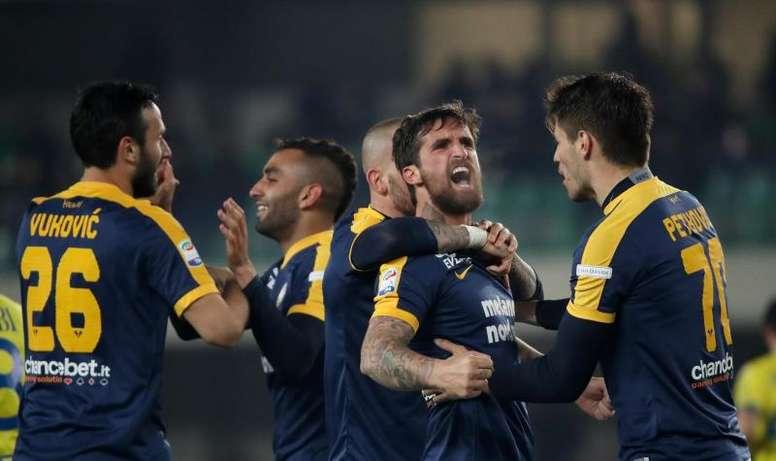 El Hellas se llevó el derbi de Verona. EFE