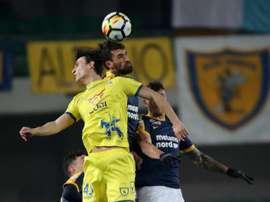 El Chievo ganó dos seguidos y salió del descenso. EFE