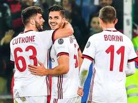 Cutrone y André Silva fueron los héroes en la segunda mitad. EFE