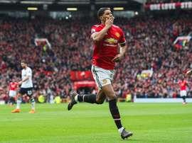 Rashford marcou o único golo do encontro. EFE