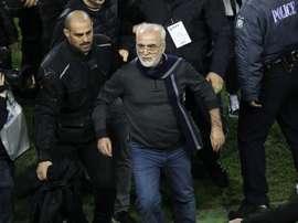 Presidente do PAOK pede desculpa. EFE