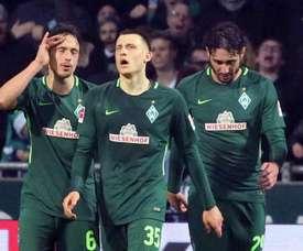 Los de Bremen se colocan en segunda posición. EFE