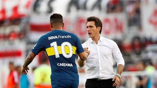 Guillermo sabe que la afición de Boca será clave para la Libertadores. EFE
