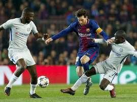Le jour où Rüdiger a cru que Messi ne voulait pas de son maillot. EFE