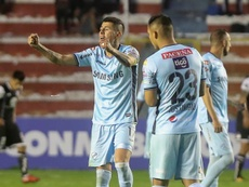 Arce anotó el tanto del empate para Bolívar. EFE